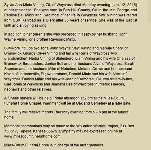 John Wayne Vining Sylvia Ann Minix